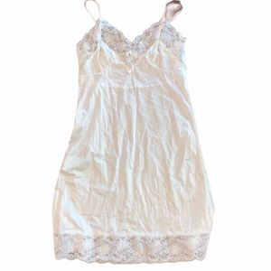 Ashley Taylor 36 Nylon Floral Lace Slip Dress